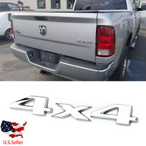 1pc Chrome 3d 4x4 Rear Emblem Badge Car For Chrysler Dodge Ram 1500 2500 3500