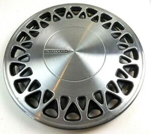 Plymouth 1990s Hubcap 16 5 In Stainless Steel Old Hub Cap Wheel Cover Decor Vtg