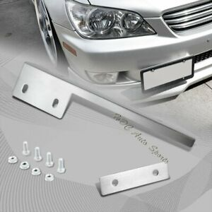 For Acura Honda Chrome Aluminum Front License Plate Mount Relocate Bracket Bar