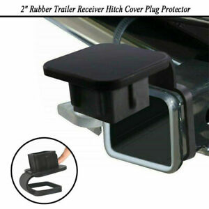 Fits Toyota Jeep Mercedes 2 Rubber Trailer Receiver Hitch Cover Plug Protector