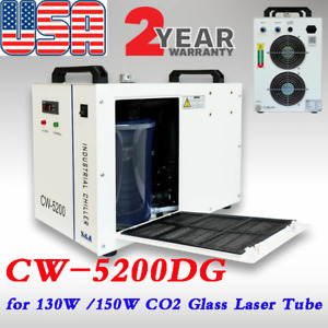 Us Original S a 110v Cw 5200dg Water Chiller For 130w 150w Co2 Laser Engraving