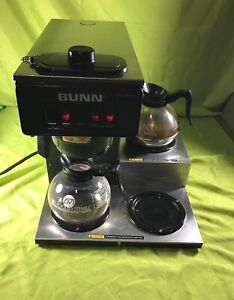 Bunn 3 burner Coffee Maker Vp17 3 Series Commercial Two Pots Included Working