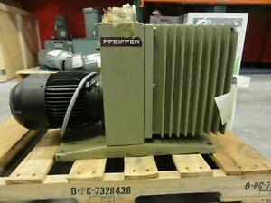 Pfeiffer Type Duo 030a Vacuum Pump 30m3 h W Aeg Type Am90sx4q4 Motor