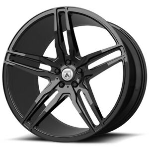 4 asanti Abl 12 Orion 22x9 5x112 32mm Gloss Black Wheels Rims 22 Inch