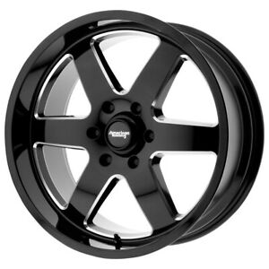 American Racing Ar926 Patrol 20x9 8x170 12mm Black Milled Wheel Rim 20 Inch