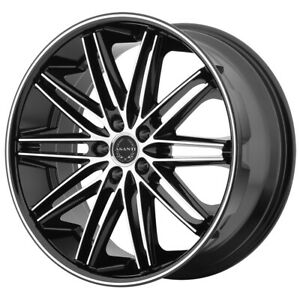 4 asanti Abl 10 Pollux 22x9 5x120 15mm Black machined Wheels Rims 22 Inch