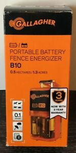 Brand New Gallagher Portable Battery Electric Fence Energizer Charger B10