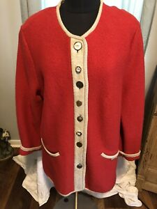 Geiger Collections Made In Austria Boiled Wool Coat Jacket Size 42 Or Us 14