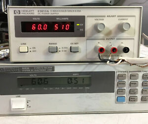 Hp Agilent E3612a Variable Dc Power Supply 0 60v 5a 0 120v 25a Load Tested