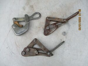 M Klein Sons Cable Wire Stretcher 1604 20 And Two 1615 30 Wire Pullers