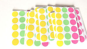 Blank 315 Garage Yard Sale Rummage Stickers Price Label Neon See My Other Items