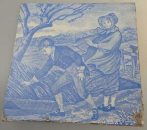 Wedgwood March Month Tile Transfer Printed C1880 Light B W Old English Series