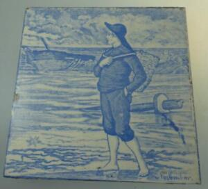 Wedgwood November Month Tile Transfer Printed C1880 Light B W Old English Series