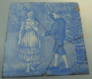 Wedgwood December Month Tile Transfer Printed C1880 Light B W Old English Series