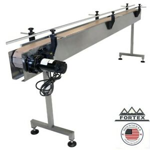 Fortex Stainless Steel 12 X 4 5 Inline Packaging Conveyor With Table Top Belt