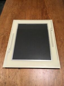 Stunning Art Deco Glass Easel Photo Frame 12 X 10 Reverse Painted Cream Silver