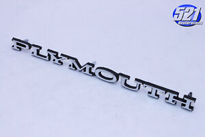 New Plymouth Emblem Fits 68 69 Roadrunner Gtx Hood 70 71 72 Duster Scamp
