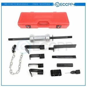 13pc Dent Puller W 10lbs Slide Hammer Auto Body Truck Repair Tool Kit Heavy Duty