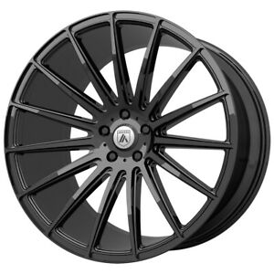 Staggered Asanti Abl 14 Front 20x9 Rear 20x10 5 5x120 Gloss Black Wheels Rims