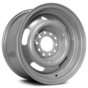 4 Vision 55 Rally 15x10 6x5 5 32mm Silver Wheels Rims 15 Inch