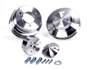 March Performance Aluminum Bbc Serpentine Performance Series Pulley Kit P n 7630