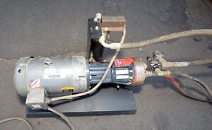 Wanner D10 5hp Hydra Cell Pump And Baldor Electric Motor inv 35542