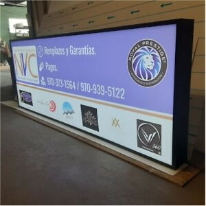 Double Sided Outdoor Led Light Box Sign 24 X 72 X 7