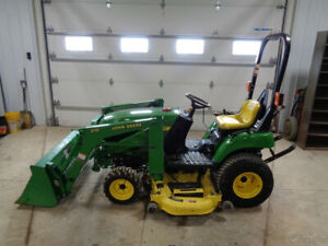2004 John Deere 2210 Tractor 210 Front Loader 62in Belly Mower Hydro 617 Hrs