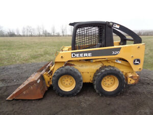 2005 John Deere 320 Skid Steer OROPS SticksPedals Weight Kit 2513 Hours $17,900.00