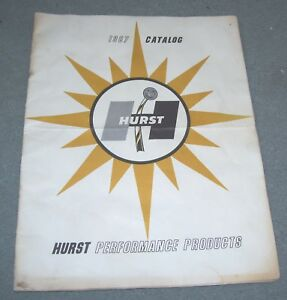 1967 Hurst Catalog 3 Speed 4 Speed Dazzler Wheels Motor Mounts Hydro Gate