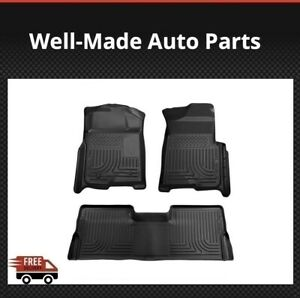 Husky Liners Wb Black Floor Mats For Ford F 150 Super Crew Cab 2009 2014 98331