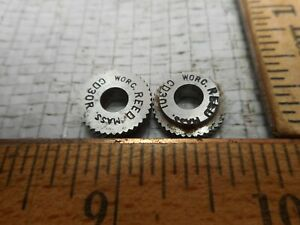 Reed Knurl Wheel Roller Cd 30 Rh Lh Set Of 2 Used In Excellent Cond