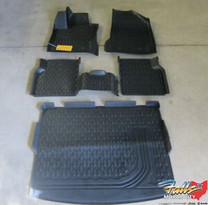 2017 2020 Jeep Compass Front Rear Black All Weather Floor Mats Cargo Tray