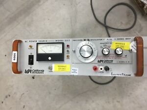 California Instruments Model 251t Ac Power Source With Oscillator 800t