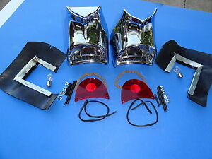 1957 Chevrolet Bel Air 210 150 Taillight Assembly pair gene Smith complete new