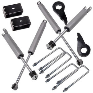 1 3 Leveling Lift Kit Shocks For Silverado Sierra 1500 1999 2002 2003 2006
