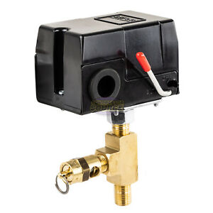 Replacement Pressure Switch Craftsman Air Compressors W Relief Valve 95 125 Psi