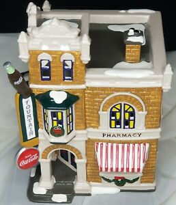 COCA COLA CORNER DRUGSTORE Department 56 Chistmas Snow Village 54844 Lighted New