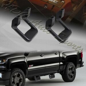 2 X Universal Truck Black Texture Coated Die cast Aluminum Trunk Side Step Bar