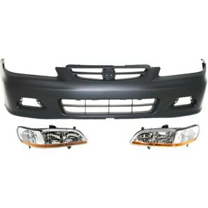 Bumper Cover Kit For 2001 2002 Honda Accord Front