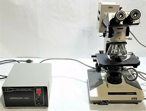Olympus Bh 2 Microscope With 4 Objectives And Mercury 100