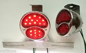 Led Red Lens Stainless Taillights W Plate Light Brackets Flat Bed Dump Gm2