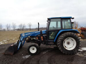 1998 New Holland 4835 Tractor Cab heat air Bush Hog 2426qt Loader 2 830 Hrs