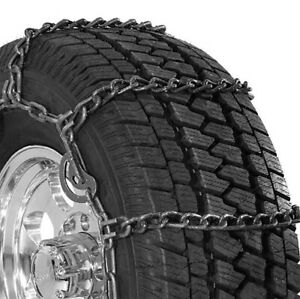 Security Chain Wide Base Cam Suv Truck Tire Twist Snow Chain 2 Pack Open Box