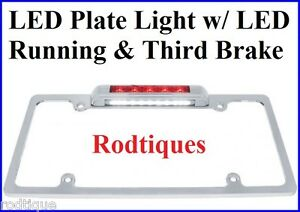 License Plate Frame Led Tail Light Third Brake Light Plate Light Hot Rod