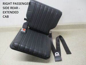 95 To 99 Chevy S10 Sonoma Extended Cab Right Rear Folding Jump Seat 15714088 Oem