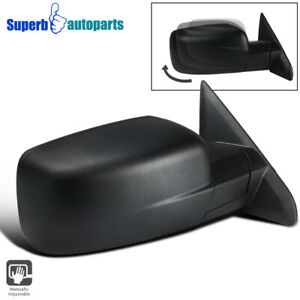 For 2009 2019 Dodge Ram 1500 Manual Foldable Abs Right Passenger Side Mirror 1pc