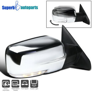 For 2013 2019 Ram 1500 Right Side Mirror Sliver Cover W Power Heated Signal