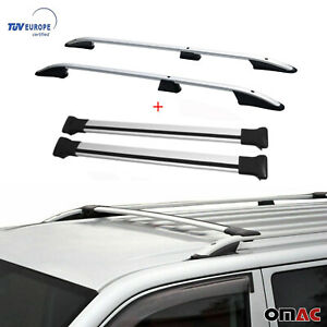 Roof Rack Rails Cross Bars Set 4 Pcs For Ford Connect 2 Short Wheel Base 2014 20