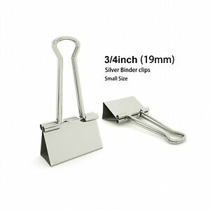 Silver Binder Clips Small Metal Clamp 3 4 In 0 75 Inch silver 40 count